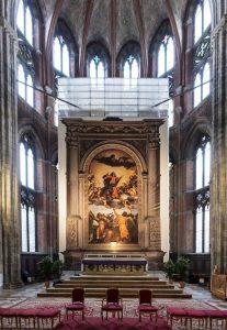 Altare maggiore della Basilica dei Frari- Copia della Pala dell'Assunta